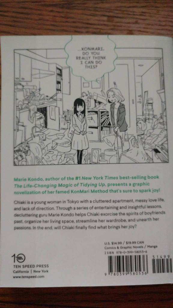 Manga by Marie Kondo Back Cover
