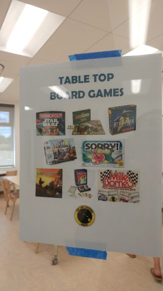 Board games for attendees to play