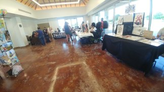 Inside the Meeting Room with Artists and Vendors